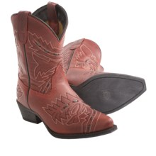 Dan Post Sidewinder Cowboy Boots - Leather, Snip Toe (For Kids and Youth) in Red - Closeouts