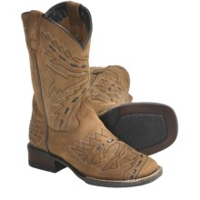 Dan Post Sidewinder Leather Cowboy Boots - Square Toe (For Kids and Youth) in Tan - Closeouts