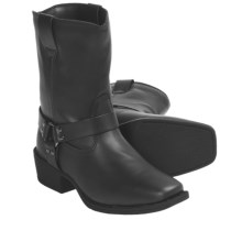 Dan Post Snoot Toe Harness Boots - Synthetic Leather (For Kids and Youth) in Black - Closeouts