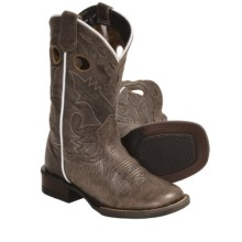 Dan Post Square-Toe Cowboy Boots - Leather (For Kids and Youth) in Taupe - Closeouts