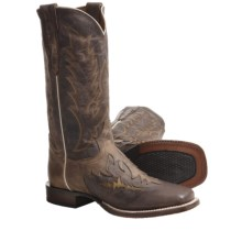 "Dan Post Square-Toe Cowboy Certified Boots - 13"" (For Men) in Chocolate Brown - Closeouts"