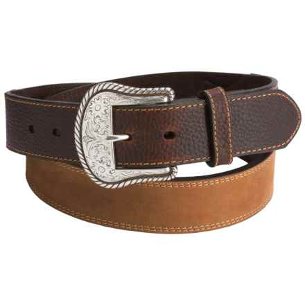 Dan Post Sueded Leather Belt (For Men) in Brown - Closeouts