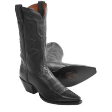 Dan Post Taylor Saddle Brand Cowboy Boots - Leather, Snip Toe (For Women) in Black - Closeouts