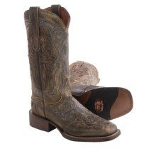 Dan Post Teardrop Cowboy Boots - Leather, Square Toe (For Women) in Honey - Closeouts