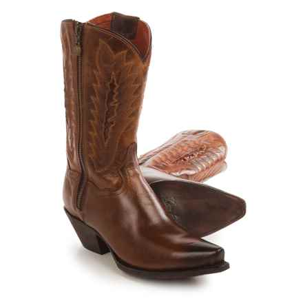 Dan Post Trish Cowboy Boots - Leather, Snip Toe (For Women) in Tan - Closeouts