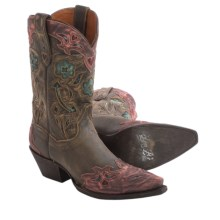 Dan Post Vintage Arrow Cowboy Boots - Leather, Snip Toe (For Women) in Pink - Closeouts