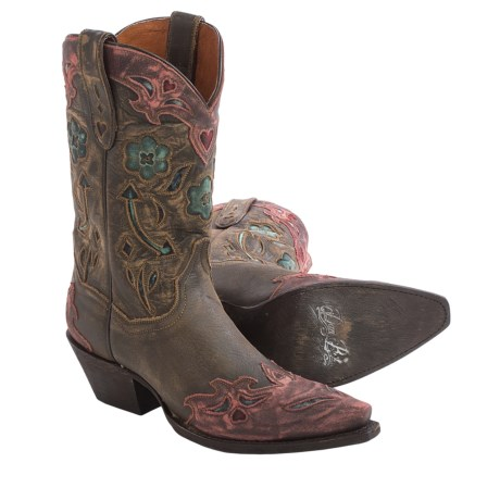 Dan Post Vintage Arrow Cowboy Boots Leather, Snip Toe (For Women)