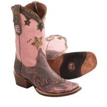 "Dan Post Vintage Star 11"" Cowboy Boots - Square Toe (For Women) in Pink - Closeouts"