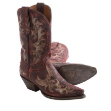 Dan Post Zephyr Cowboy Boots - Leather, Snip Toe (For Women) in Red - Closeouts