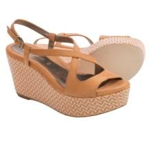 Dana Davis Georgia Platform Wedge Sandals (For Women) in Orange Zig Zag - Closeouts