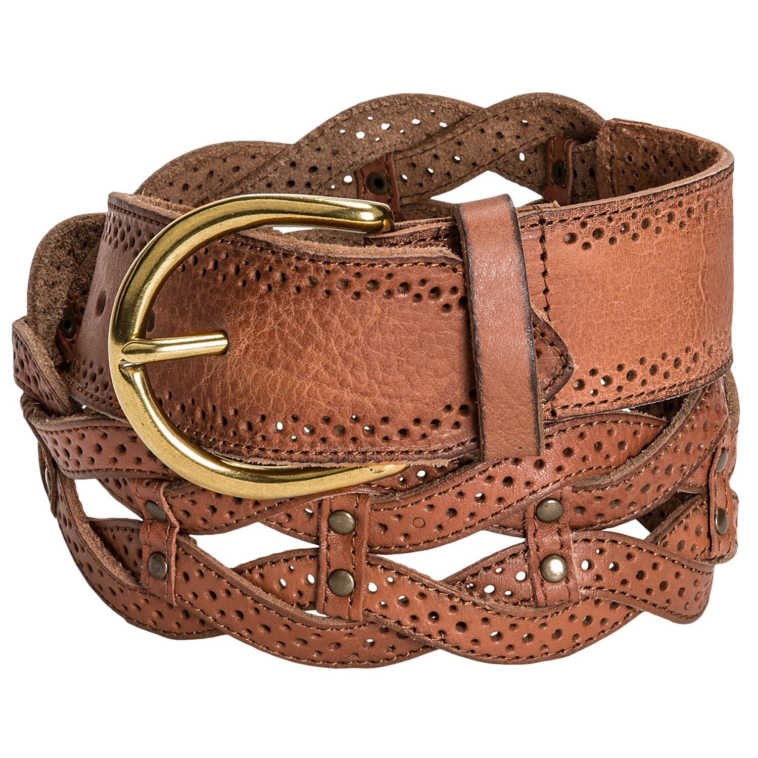 Danbury Braided Leather Belt (For Women)