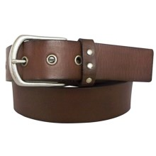 Danbury Distressed Leather Belt (For Women) in Brown - Closeouts