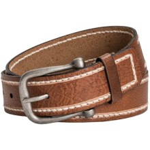 Danbury Milled Leather Belt (For Women) in Brown - Closeouts