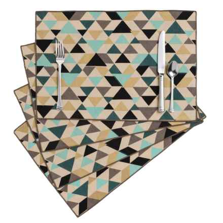 Danica Studio Cotton and Linen Placemats - Set of 4 in Tessellate - Closeouts