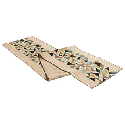 "Danica Studio Cotton-Linen Table Runner - 72"" in Tessellate - Closeouts"