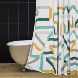 """Danica Studio Cotton Shower Curtain - 72x72"""" in Calliope"""