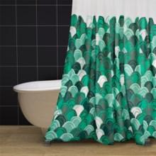 """Danica Studio Cotton Shower Curtain - 72x72"""" in Emerald City - Closeouts"""