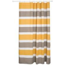 """Danica Studio Cotton Shower Curtain - 72x72"""" in Even Stripe - Closeouts"""