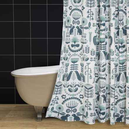 "Danica Studio Cotton Shower Curtain - 72x72"" in Folklore - Closeouts"