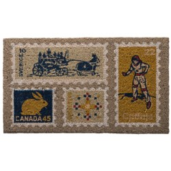 "Danica Studio Entry Mat - Coir,18x30"" in Jetset"