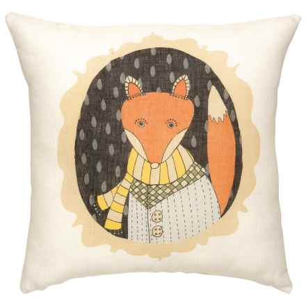 "Danica Studio Linen Decorative Throw Pillow Cover - 17"" in Cameo - Closeouts"
