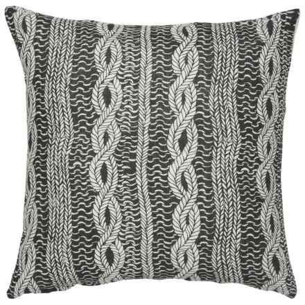 "Danica Studio Linen Decorative Throw Pillow Cover - 17"" in Entwine - Closeouts"