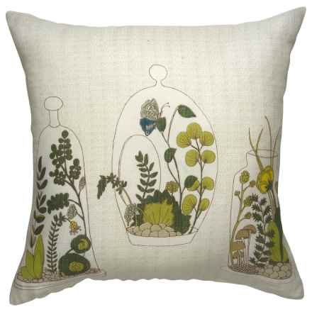 "Danica Studio Linen Decorative Throw Pillow Cover - 17"" in Ephemera - Closeouts"