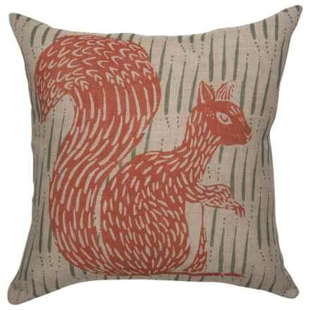 """Danica Studio Linen Decorative Throw Pillow Cover - 17"""" in Flora & Fauna - Closeouts"""