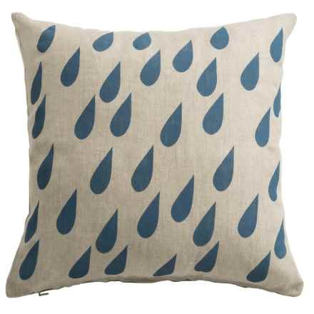 "Danica Studio Linen Decorative Throw Pillow Cover - 17"" in Raindrops - Closeouts"