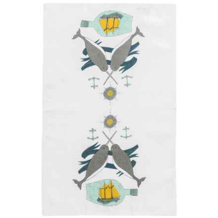 Danica Studio Linen Tea Towel in Seven Seas - Closeouts
