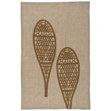 Danica Studio Linen Tea Towel in Snow Shoes - Closeouts