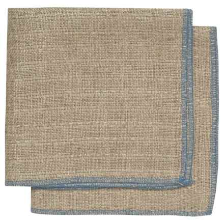 Danica Studio Parker Linen Dishcloth in Blue - Closeouts