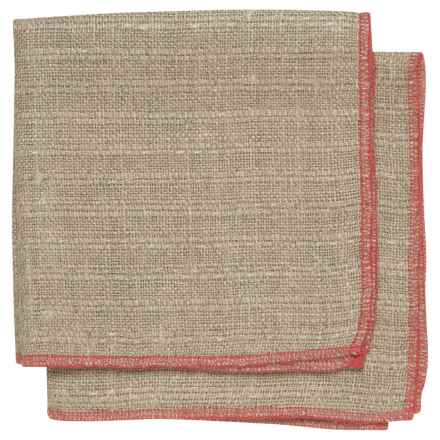 Danica Studio Parker Linen Dishcloth in Red - Closeouts