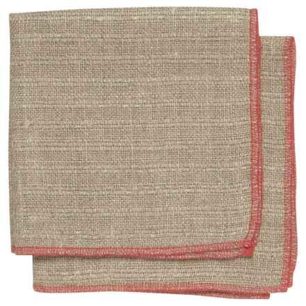 Danica Studio Parker Linen Dishcloth in Red - Closeouts