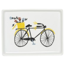 "Danica Studio Porcelain Bath Accessory Tray - 5x6.5"" in Bicicletta - Closeouts"