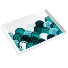 "Danica Studio Porcelain Bath Accessory Tray - 5x6.5"" in Emerald City - Closeouts"