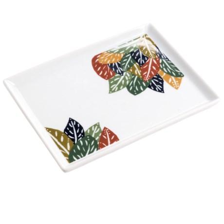"Danica Studio Porcelain Bath Accessory Tray - 5x6.5"" in Flora & Fauna"