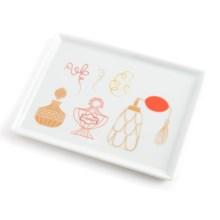 """Danica Studio Porcelain Bath Accessory Tray - 5x6.5"""" in Powder Room - Closeouts"""