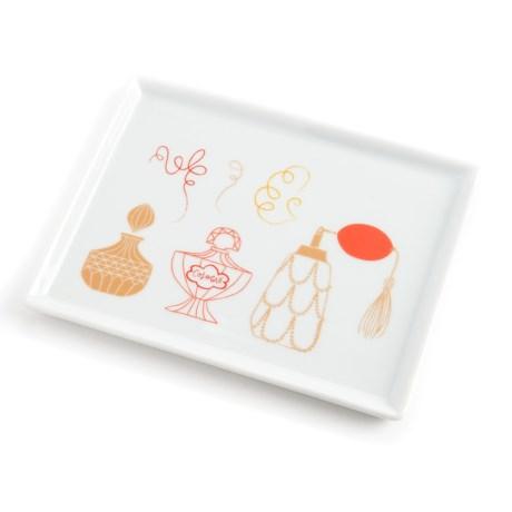 "Danica Studio Porcelain Bath Accessory Tray - 5x6.5"" in Powder Room"