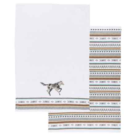 Danica Studio Saddle Up Kitchen Towels - Set of 2 in Multi - Closeouts