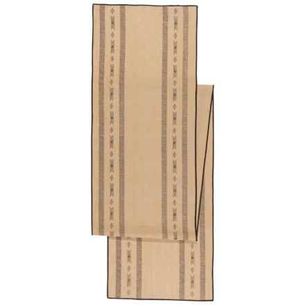 """Danica Studio Saddle Up Striped Table Runner - 13x72"""" in Linen - Closeouts"""