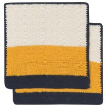 Danica Studio Sasha Crochet Dishcloth - Set of 2 in Goldenrod - Closeouts