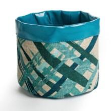 Danica Studio Small Linen Storage Basket in Emerald City - Closeouts