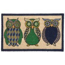 Danica Studios Coir Doormat in Night Owl - Closeouts