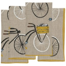 Danica Studios Linen Napkins - Set of 4 in Bicicletta - Closeouts