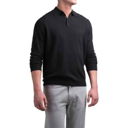 Daniel Bishop Polo Sweater - Merino Wool (For Men) in Black - Closeouts