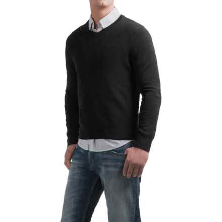 Daniel Bishop V-Neck Sweater - Merino Wool (For Men) in Black - Closeouts