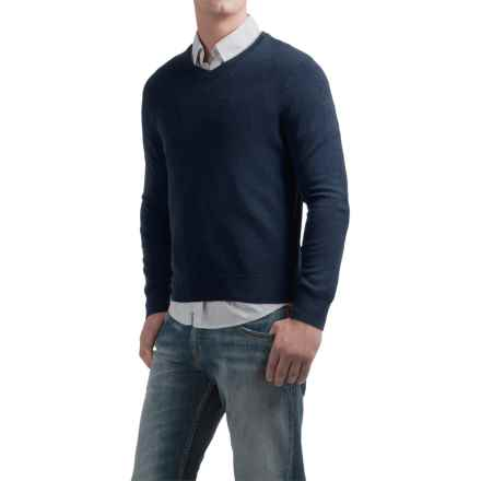 Daniel Bishop V-Neck Sweater - Merino Wool (For Men) in Navy - Closeouts
