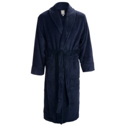 Daniel Buchler Belted Plush Robe - Shawl Collar, Long Sleeve (For Men) in Desert