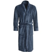 Daniel Buchler Plush Robe - Long Sleeve (For Men) in Navy - Closeouts